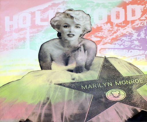 Steve KAUFMAN - 绘画 - Hollywood Marilyn