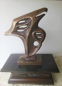 Romeo DOBROTA - Sculpture-Volume - Air's King, Sculpture, Cast in bronze, 25 pds, 11.5 kg