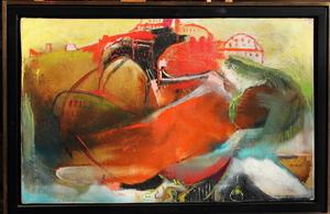 Enrico VISANI - Pintura - riposo sotto le cattrdrali