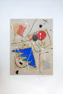 Jean-Paul FRIOL - Painting - Papier collé 135