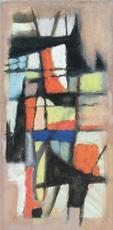 Ezechiel BAROUKH - 水彩作品 - Sans titre, 1956