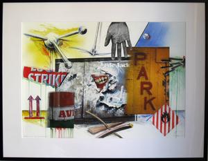 Peter KLASEN - Zeichnung Aquarell - Etude pour Lost Landscape n°19