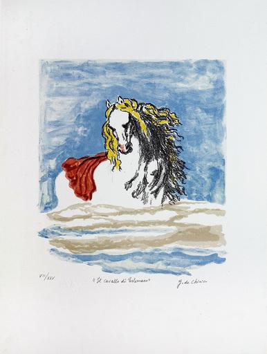 Giorgio DE CHIRICO - Grabado - Il cavallo di Telemaco, 1972