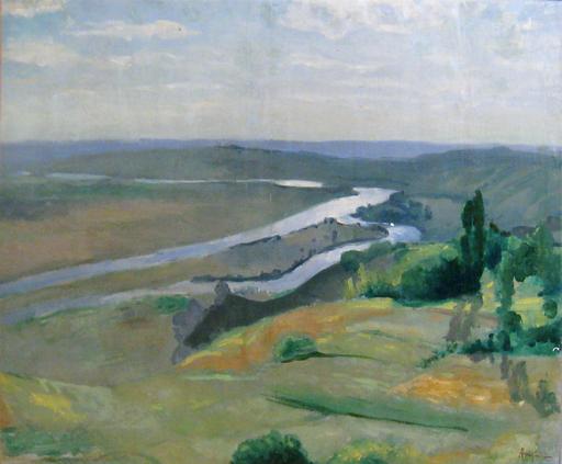 Louis ANQUETIN - 绘画 - La Seine a Vètheuil, 1892 ca