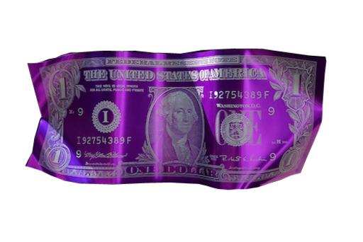 Karl LAGASSE - Escultura - One Dollar Violet