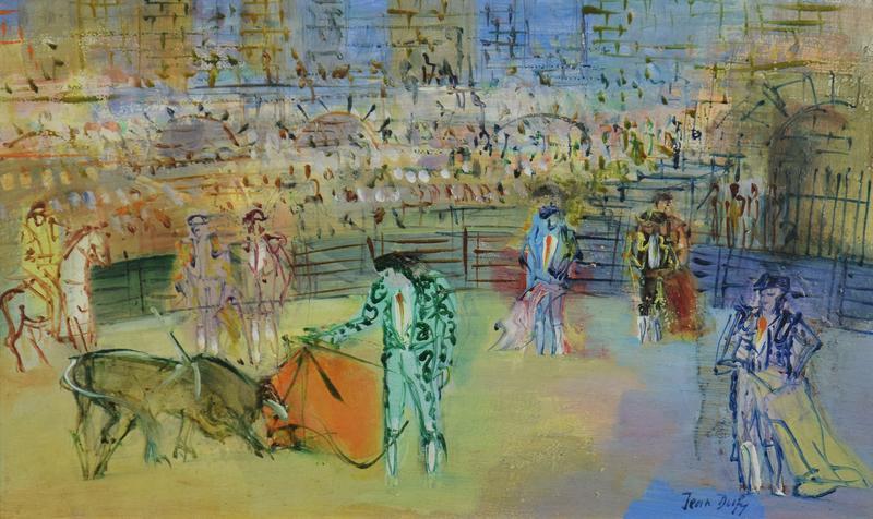 Jean DUFY - Painting - Corrida Espagnole