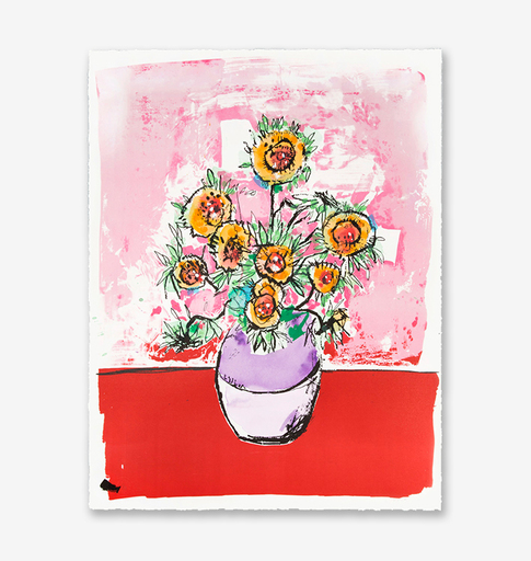 Anthony LISTER - Estampe-Multiple - Marilyn Van Gogh Sun Flowers HPM (Pink Edition)