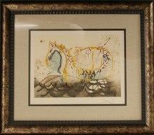 "Salvador DALI - Print-Multiple - Dalinean Horse ""Le Cheval Marin"""