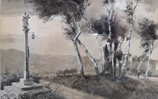 Arturo FERNANDEZ CERSA - Dibujo Acuarela - Cruceiro