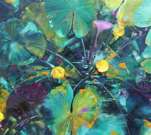 Nadine PILLON - Painting - Eaux dormantes