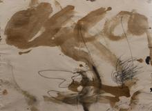 Antoni TAPIES - Drawing-Watercolor - Crayon Vernis