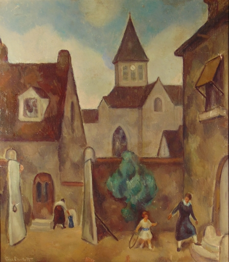 Paul BARTLETT - Painting - Church at Clairoix