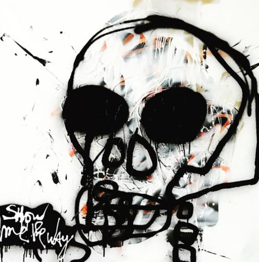 KOKIAN - Peinture - Vanité hommage à Basquiat
