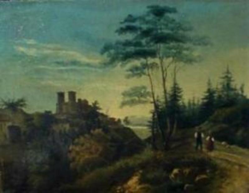 Émile SERDA - Pittura - La promenade