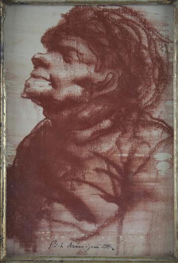 Pietro ANNIGONI - Dibujo Acuarela - 'Senza Titolo (Study for a Male Portrait)'