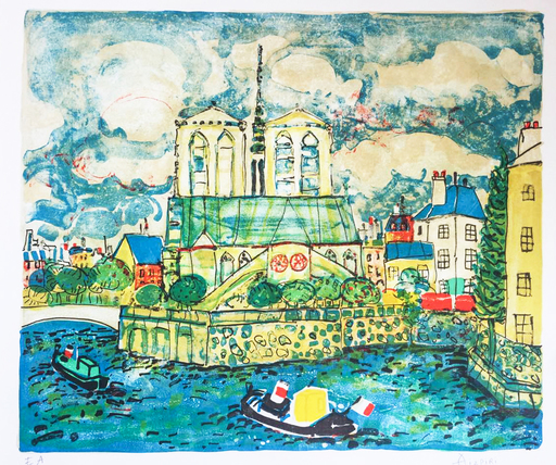 Paul AIZPIRI - Print-Multiple - Notre-Dame