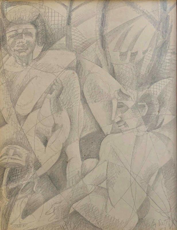 Alfred RETH - Zeichnung Aquarell - Africans