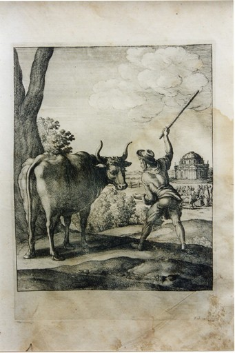 Wenceslaus HOLLAR VON PRACHNA - Print-Multiple - The Peasant and the Ox