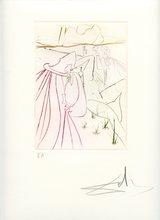 Salvador DALI - Estampe-Multiple - GRAVURE 1972 SIGNÉE CRAYON ANNOTÉE EA ML561 HANDSIGNED EA ET