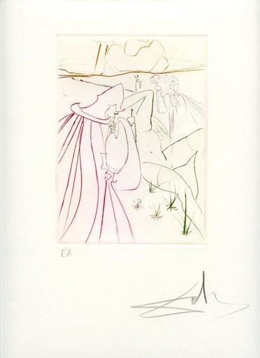 萨尔瓦多·达利 - 版画 - GRAVURE 1972 SIGNÉE CRAYON ANNOTÉE EA ML561 HANDSIGNED EA ET