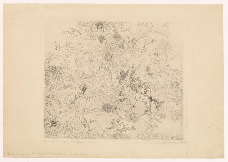 James ENSOR - Print-Multiple - Diables rossant anges et archanges