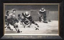 "Lev Michailovitsch KHAILOV - Dessin-Aquarelle - ""Hockey"" by Lev Khailov, ca 1950"
