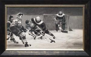"Lev Michailovitsch KHAILOV - Zeichnung Aquarell - ""Hockey"" by Lev Khailov, ca 1950"