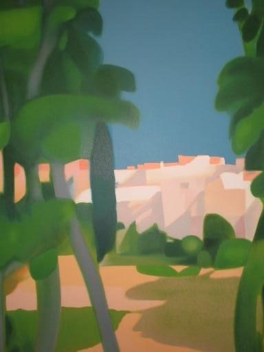 Freddy DEFOSSEZ - 版画 - Paysage du Midi,1988.
