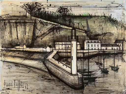 Bernard BUFFET - Drawing-Watercolor - Le phare