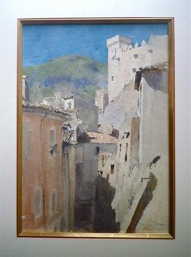 Georges SCOTT - Zeichnung Aquarell - Roquebrune