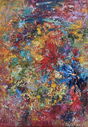 Diana MALIVANI - Pintura - In a Summer Garden