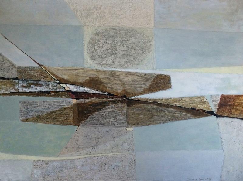 James GUITET - Pintura - Sans titre, 1957