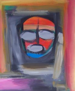 Ernst CIJULUS - Painting - Masque de Fête Mondaine
