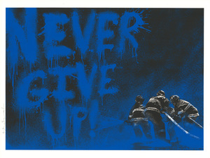 MR BRAINWASH - Print-Multiple - Superheroes (BLUE)