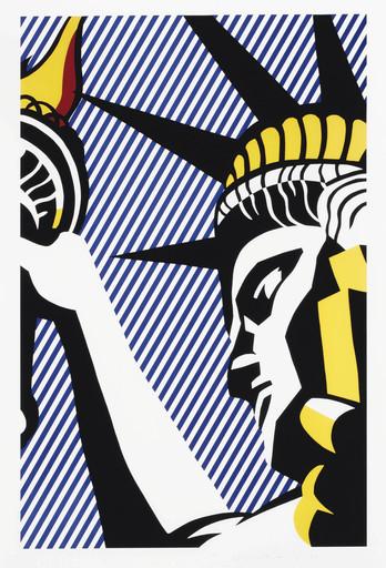 Roy LICHTENSTEIN - Stampa Multiplo - I love liberty