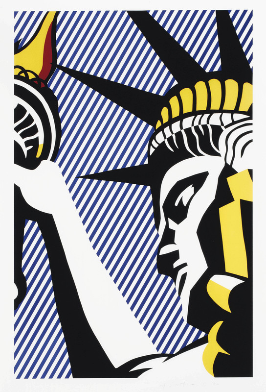 Roy LICHTENSTEIN - Print-Multiple - I love liberty