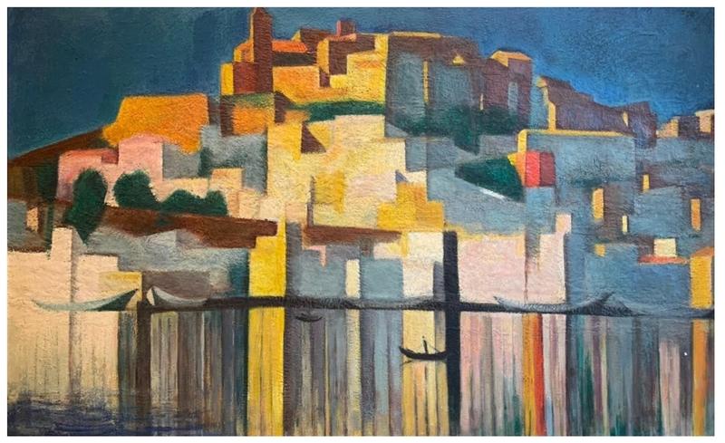 Miguel VILLA BASSOLS - Painting - Ibiza Puerto