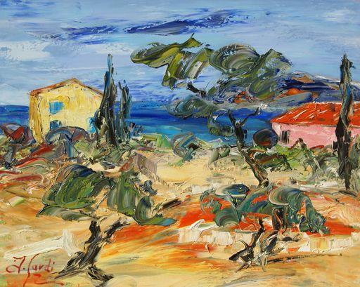 Jean SARDI - Painting - Bord de mer