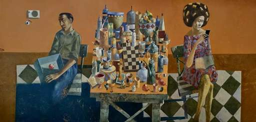 Bobur ISMOILOV - Peinture - The everyday life