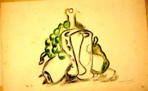 Mikhail LARIONOV - Dibujo Acuarela - Cubistic still life