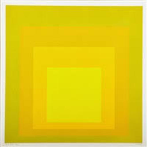 Josef ALBERS - Print-Multiple - STUDY FOR HOMAGE TO THE SQUARE (EK id)