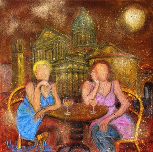 Valerio BETTA - Painting - Serata noiosa..Boring evening...