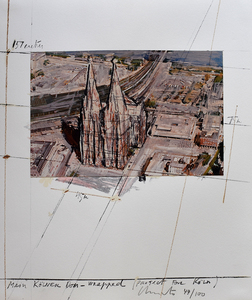克里斯托 - 版画 - Mein Kölner Dom Wrapped, Project for Köln, from: Five Urban