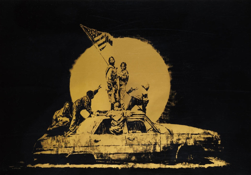 BANKSY - Druckgrafik-Multiple - Gold Flag