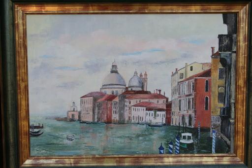 Monique DEVALOIS - Peinture - Venise (Entrée du grand canal)