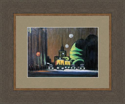 Valeriy NESTEROV - Gemälde - Lubyanskiy driveway. Moscow
