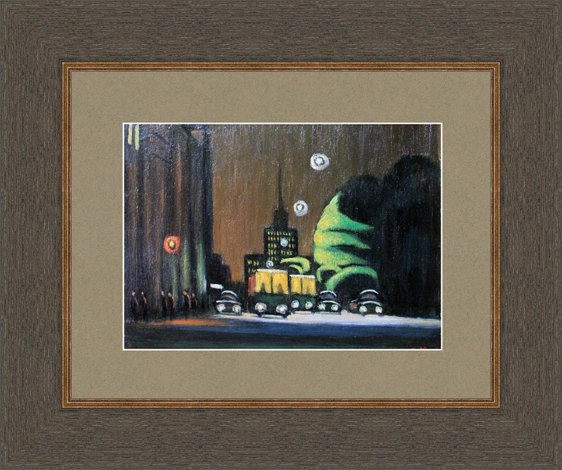 Valeriy NESTEROV - Pintura - Lubyanskiy driveway. Moscow