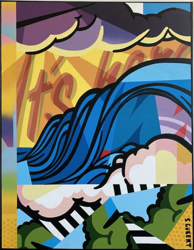 Stéphane GUBERT - Painting - Popsurf II. It's here