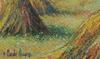 Hugues Claude PISSARRO - Painting - Moisson à Saint-Omer