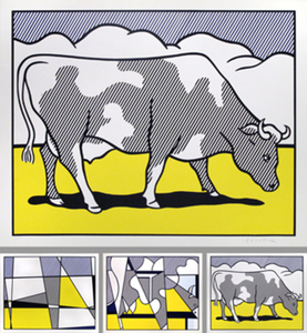 Roy LICHTENSTEIN - Stampa Multiplo - Cow going abstract  (Trypich)